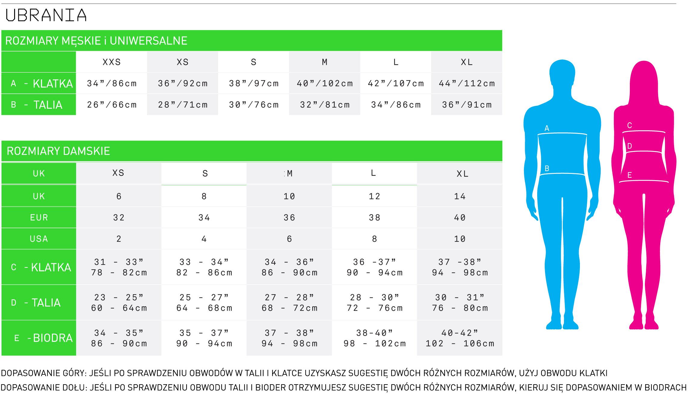Tabela rozmiarów | active.sklep.pl