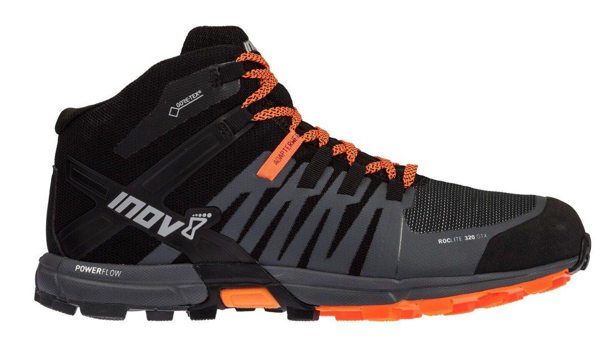 buy online f8de5 a6865 Buty inov-8 roclite 320 GTX czarno-pomarańczowe.